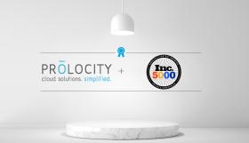Prolocity Wins INC 5000 Award